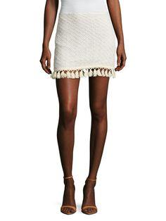 Crochet Mini Skirt by ANINE BING at Gilt