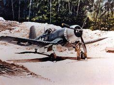 Colorized pic of a USAF F4u-1a Corsair