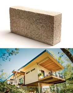A new bio-composite, thermal wall material made of hemp, lime and water is not only eco-friendly but actually carbon-negative thanks to the amount of stored during the process of growing and harvesting hemp. It's recyclable, waterproof and firepr Sustainable Building Materials, Sustainable Architecture, Sustainable Design, Sustainable Living, Architecture Design, Natural Building, Green Building, Building A House, Eco Buildings