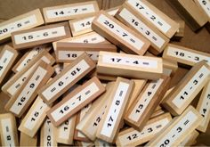 jenga numbers. letters. words. the options are endless.