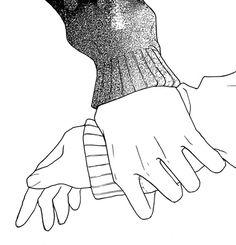 Image via We Heart It #hands #love #manga
