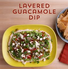 Two party favorites come together in one amazingly delicious dip. Guacamole and 7-layer dip become a party on a plate with this easy layered dip.