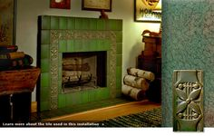 Craftsman, craftsmen, arts and crafts, I dont know which. Awesome tile fireplace.