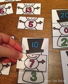 Snowmen Missing Addends game $