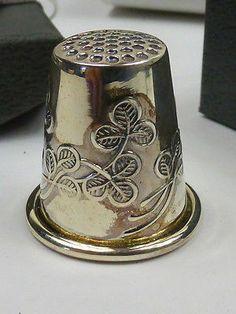 Hallmarked Sterling Silver Irish Shamrock Thimble Boxed | eBay /  Jun 23, 2014 / GBP 14.51 / 851.19 RUB