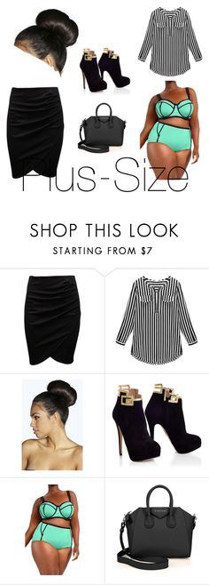"""Big is beautiful"" by prettyrickiii ❤ liked on Polyvore featuring Boohoo and Givenchy"