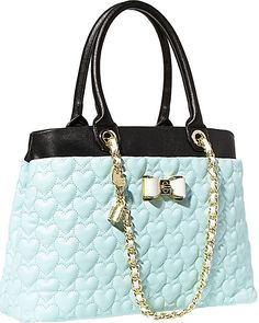 BE MY BOW SHOPPER MINT accessories handbags day totes