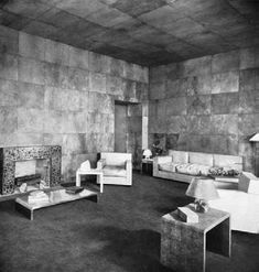 The living room of a San Francisco apartment designed for J. Templeton Crocker by Jean-Michel Frank, 1927, illustrated in Katherine Kahle's Modern French Decoration, 1930.