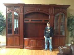 Custom Cherry Entertainment Cabinetry - Woodworking creation by Steve66