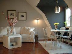 weiße und graue wände - wohnung streichen - Wohnzimmer streichen – 106 inspirierende Ideen