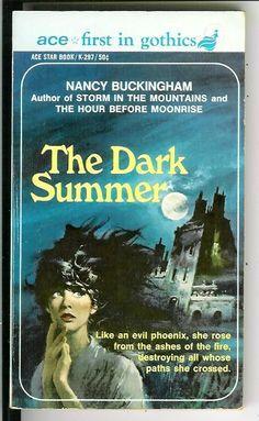 THE DARK SUMMER by Buckingham, rare US Ace Gothic romance gga pulp vintage pb