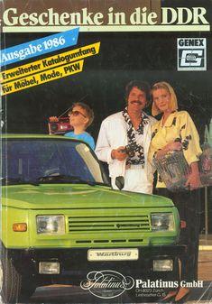 """Genex-Katalog """"Geschenke in die DDR"""" von 1986. Bundesbürger konnten gegen D-Mark die abgebildeten Waren bezahlen, die dann dem angegebenen Empfänger - ohne Wartezeiten - in der DDR überbracht wurden."""