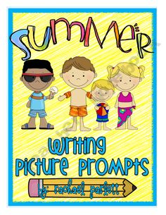 Summer-Themed picture writing prompts with final copy paper.  Keep your students writing till the very last day!  $1.99