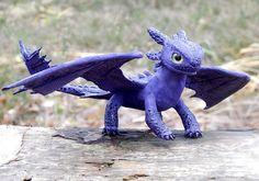 Toothless Night Fury purple night Fury toothless от ViaLatteaArt