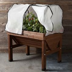 Planters, Raised Planting Beds & Planter Boxes   Williams-Sonoma Insect cover, Greenhouse cover or frost cover