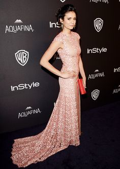 Nina Dobrev attends The 2016 73rd Annual Golden Globe Awards