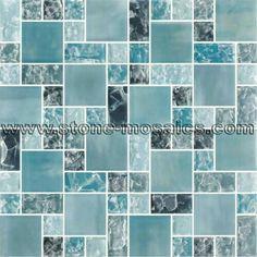 Sea glass mosaic tile
