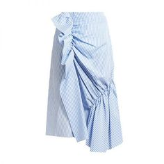 Gingham and Striped Cotton-Poplin Skirt, J.W. Anderson $437