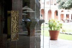 Inca door handle -- Hotel Monasterio, Cusco, Peru