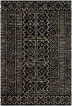 RLR5112A Kenya Rug from Ralph Lauren collection. A tribal patterned area rug inspired by authentic African kuba cloth, Kenya from Ralph Lauren Rugs adds texture and history to modern interiors. Eco-frien