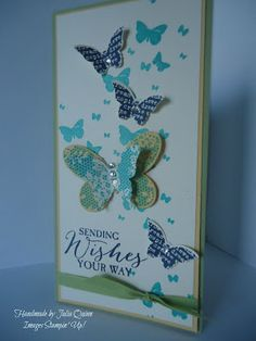 handmade by Julia Quinn - Independent Stampin' Up! Stampin Up, Perpetual Birthday Calendar, Cardmaking And Papercraft, Butterfly Cards, Dragonflies, Beautiful Day, Butterflies, Birthday Cards, Stamps