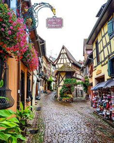 In quaint Alsace, France.