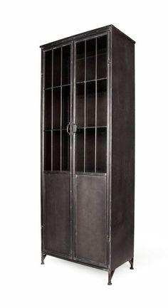 Industrial Metal Shelving, Metal Shelves, Industrial House, Industrial Furniture, Vintage Industrial, Metal Storage Cabinets, Tall Cabinet Storage, Locker Storage, Deck Storage