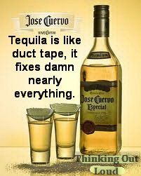 "Tequila, hahaha idk if it ""fixes"" things, or makes everything worse.. but we sure like to think it helps at least for the night @Amanda Snelson ferguson"