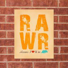 RAWR means I love you in dinosaur! Dinosaur Land, Dinosaurs, Little Blessings, Kids Bedroom, Baby Bedroom, Room Themes, Boy Room, Little Boys, Love You