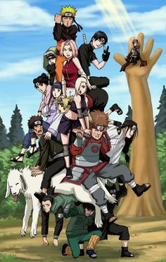 Naruto Characters... I really need to fix my laptop so I watch them again!:) I missed them so muchie!!!!!