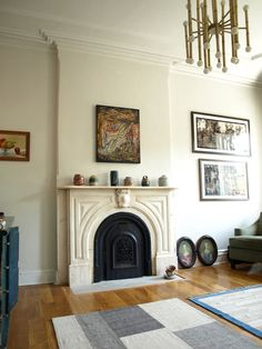this also works as home inspiration, but this is a great collection of pots on the mantle