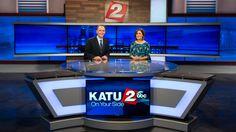 Q&A: Capturing the Pacific Northwest at Portland's KATU Tv Set Design, Stage Set Design, Studio Setup, Studio Desk, Tv Sets, Scenic Design, News Studio, New Set, Pacific Northwest