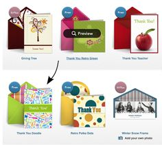Easy Parent Thank You Digital Cards with Punchbowl