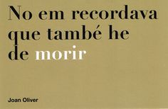 Joan Oliver. VI/XX