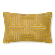 Colonial Greek Key Lumbar Pillow Cover, Sunshine 129