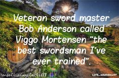 Bob Anderson also worked on the lightsaber fights in Star Wars among other things.