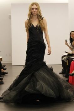 More black wedding gowns...