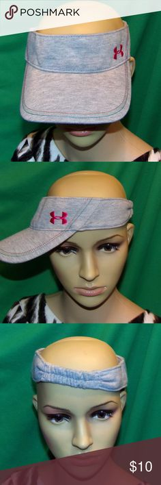Under Armour Visor Women's Embroidered Sun Visor Under Armour Visor Women's Embroidered Sun Visor LOW & FAST Shipping. Cool Sun Visor for outdoors or the beach. It has pink Green Orange stripes on the front and a pink Under Armor Logo all nicely embroidered on it. It is one size fit's all stretch to fit looks unused and unworn and In excellent condition. It is 100 Percent Polyester and looks like a sweat shirt material. Remember 2 BUNDLE 2 or more of our items to get our super discount or…