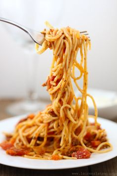 Gluten Free Spaghetti with Simple Meat Sauce