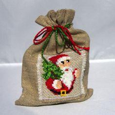 Santa Claus gift bag by Mafana on Etsy