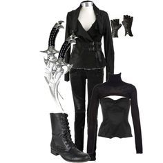 City of Bones Shadowhunter gear! I wish I could pull this off Nerd Fashion, Fandom Fashion, Womens Fashion, Punk Fashion, Lolita Fashion, Fashion Boots, Badass Outfit, My Outfit, Alternative Outfits
