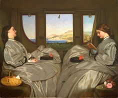 """""""The Travelling Companions"""" - 1862 - Augustus Egg - Birmingham Museums and Art Gallery"""