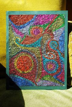 "Matted Art Piece or Back-to-School Bookmark Make It. a Wonderful Life: Crayon-Shoe Polish ""Batik"" Tutorial 4th Grade Art, Batik Art, Ecole Art, School Art Projects, Crayon Art, Art Lessons Elementary, Preschool Art, Elements Of Art, Shoe Polish"