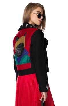 Короткая куртка с яркой вышивкой во всю спину So Easy / 2000000143859