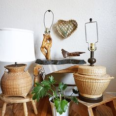 Great vintage lighting finds, now added to the shop! Mid century wood lamp sculpture, as well as bohemian style vintage lamps. Vintage Lamps, Vintage Lighting, Driftwood Lamp, Vintage Soul, Wooden Lamp, White Elephant, Types Of Wood, Home And Living, Bohemian Style