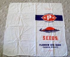 Vintage Feed Sack Cloth Feed Sack Plainview by VintagePlusCrafts, $10.00