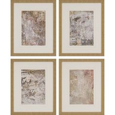 Hang the Paragon Decor Vestige III Wall Art - Set of 4 together or separately to bring contemporary style to your walls. These aged abstract prints. Wall Art Sets, Wall Art Decor, Room Decor, Painting Frames, Painting Prints, Picasso Paintings, Lighted Canvas, Wall Prints, Framed Art