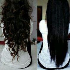 I like them both but I like straight hair better.