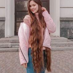 Very Long Hair, Layered Cuts, Dream Hair, Female Images, Rain Jacket, Windbreaker, Long Hair Styles, Sexy, Jackets