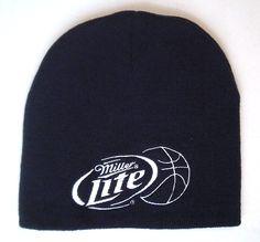 nwot MILLER LITE BASKETBALL BEANIE Winter Knit Ski Skull Cap Beer NBA Men/Women #MillerLite #Beanie
